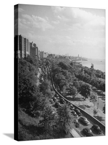 Cars Driving Off the George Washington Bridge in the Afternoon During Memorial Day Traffic-Cornell Capa-Stretched Canvas Print