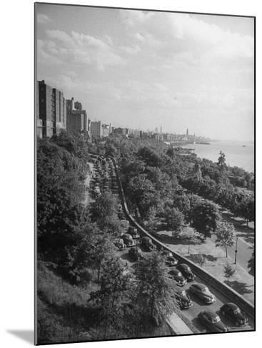 Cars Driving Off the George Washington Bridge in the Afternoon During Memorial Day Traffic-Cornell Capa-Mounted Photographic Print