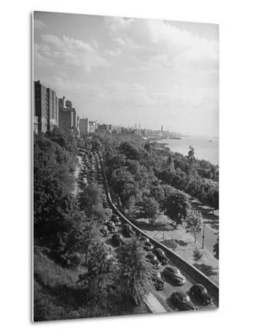 Cars Driving Off the George Washington Bridge in the Afternoon During Memorial Day Traffic-Cornell Capa-Metal Print