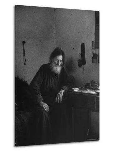 Dying Monk in a Monastery in Thessaly Contemplates His Death-Alfred Eisenstaedt-Metal Print