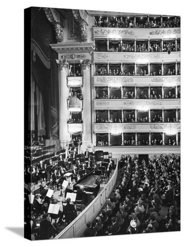 Audience at Performance at La Scala Opera House-Alfred Eisenstaedt-Stretched Canvas Print