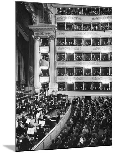 Audience at Performance at La Scala Opera House-Alfred Eisenstaedt-Mounted Photographic Print