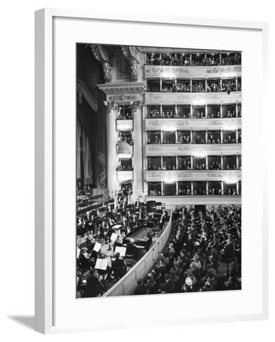 Audience at Performance at La Scala Opera House-Alfred Eisenstaedt-Framed Art Print