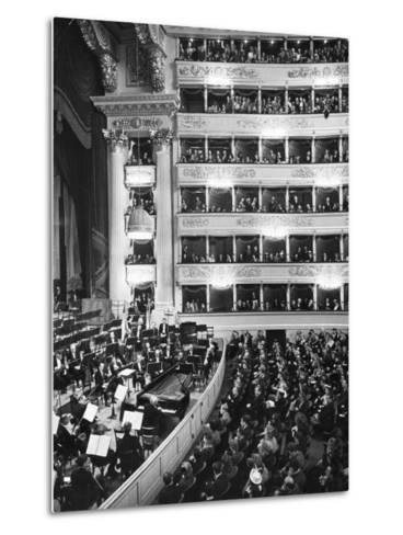 Audience at Performance at La Scala Opera House-Alfred Eisenstaedt-Metal Print