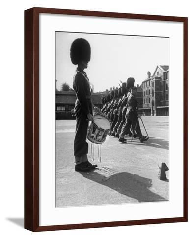Drummer Beating in Time with Metronome-Cornell Capa-Framed Art Print