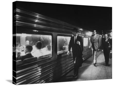 Commuters on the New Haven Line-Alfred Eisenstaedt-Stretched Canvas Print