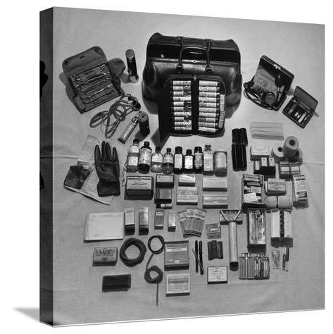 Content's of Country Dr. Ernest Ceriani's Medical Bag-W^ Eugene Smith-Stretched Canvas Print