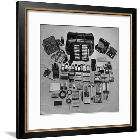 Content's of Country Dr. Ernest Ceriani's Medical Bag-W^ Eugene Smith-Framed Art Print