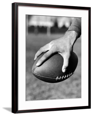 Holding the Football is Player Paul Dekker of Michigan State-Joe Scherschel-Framed Art Print
