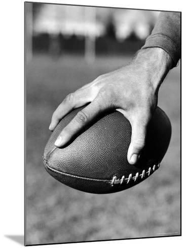 Holding the Football is Player Paul Dekker of Michigan State-Joe Scherschel-Mounted Photographic Print