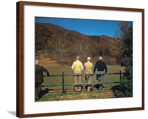 Golfers Waiting at 1st Tee to Play on the No. 1 White Sulfur Golf Course-Walker Evans-Framed Art Print