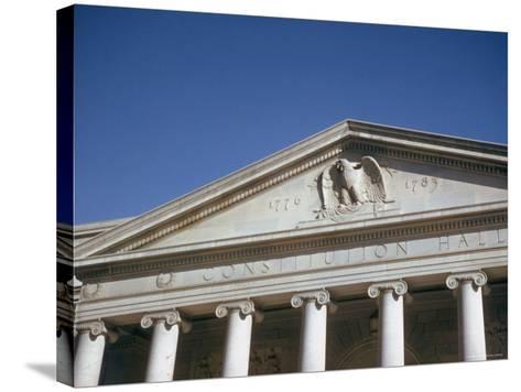 Imperial Washington Portfolio, DC Views, 1952: Constitution Hall Facade Detail-Walker Evans-Stretched Canvas Print
