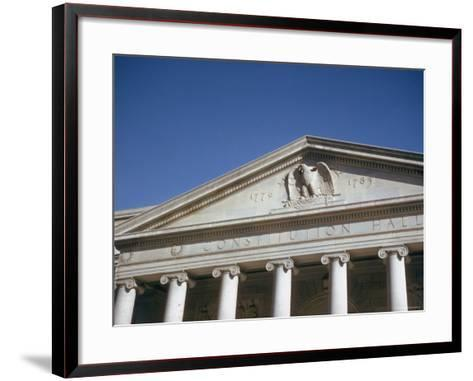 Imperial Washington Portfolio, DC Views, 1952: Constitution Hall Facade Detail-Walker Evans-Framed Art Print