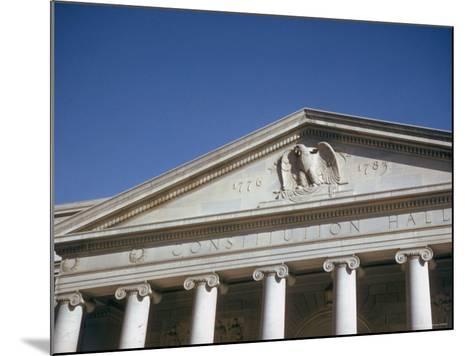 Imperial Washington Portfolio, DC Views, 1952: Constitution Hall Facade Detail-Walker Evans-Mounted Photographic Print