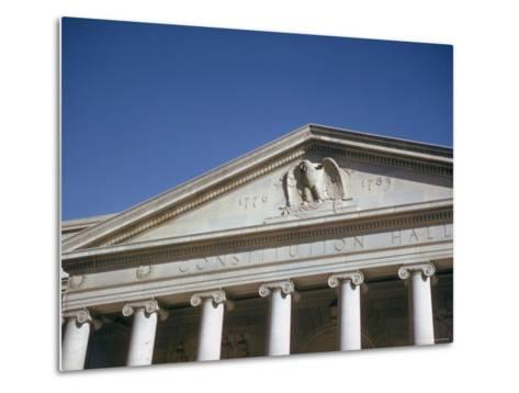 Imperial Washington Portfolio, DC Views, 1952: Constitution Hall Facade Detail-Walker Evans-Metal Print