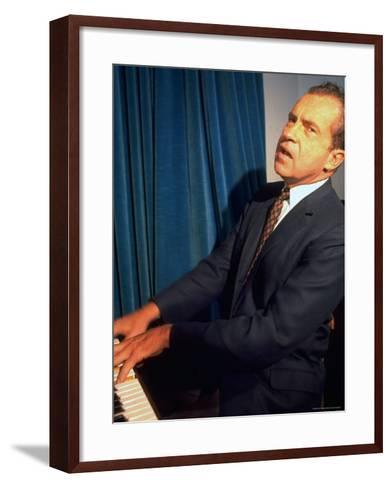 Presidential Nominee Richard Nixon the Day After His Acceptance Speech at Key Biscayne-Arthur Schatz-Framed Art Print