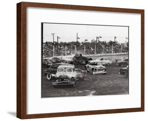 Action at a Demolition Derby-Henry Groskinsky-Framed Art Print