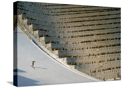 90 Meter Ski Jump During the 1972 Olympics-John Dominis-Stretched Canvas Print