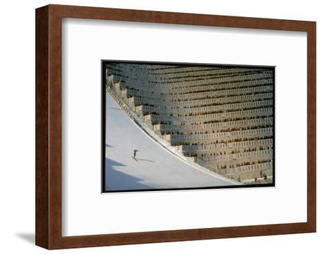 90 Meter Ski Jump During the 1972 Olympics-John Dominis-Framed Art Print