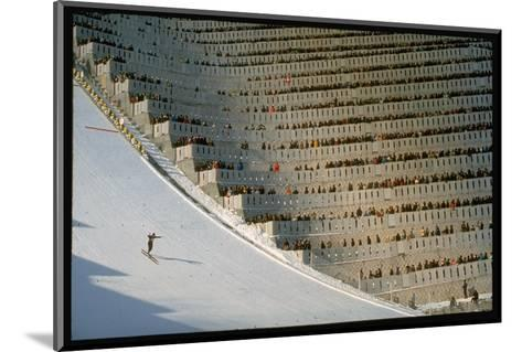 90 Meter Ski Jump During the 1972 Olympics-John Dominis-Mounted Photographic Print