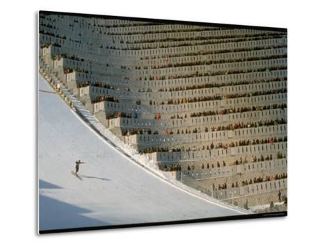 90 Meter Ski Jump During the 1972 Olympics-John Dominis-Metal Print