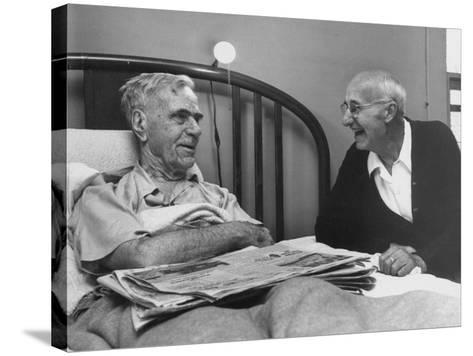 John H. Heblich Visiting Elderly Man in Bed with Broken Hip-Francis Miller-Stretched Canvas Print