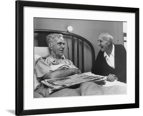 John H. Heblich Visiting Elderly Man in Bed with Broken Hip-Francis Miller-Framed Art Print