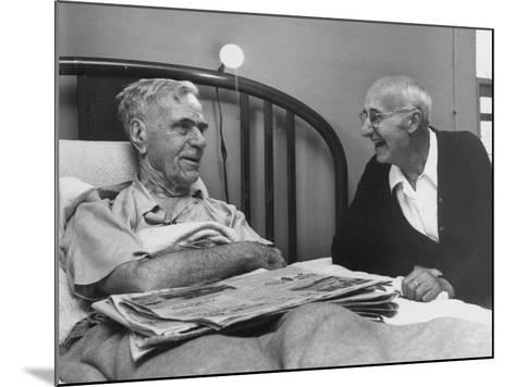 John H. Heblich Visiting Elderly Man in Bed with Broken Hip-Francis Miller-Mounted Photographic Print