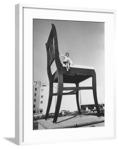 19 Ft. Chair Being Used as an Advertising Stunt-Ed Clark-Framed Art Print