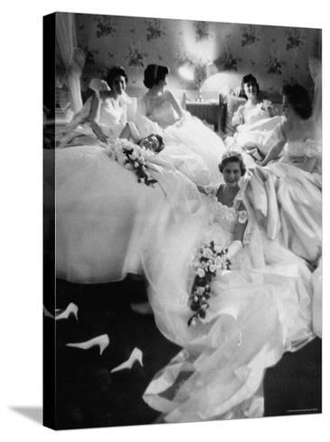 Queens and Their Attendants Resting Between Dances During the Chattanooga Cotton Ball-Grey Villet-Stretched Canvas Print