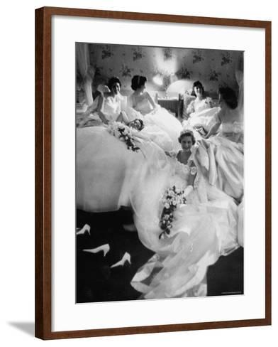 Queens and Their Attendants Resting Between Dances During the Chattanooga Cotton Ball-Grey Villet-Framed Art Print
