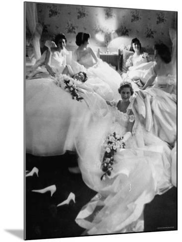 Queens and Their Attendants Resting Between Dances During the Chattanooga Cotton Ball-Grey Villet-Mounted Photographic Print