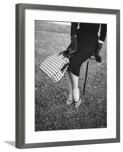 662d194e8c3 Big Checked Handbag with Matching Shoes