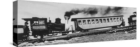 Mt. Washington Cog Railroad Built in 1869-Dmitri Kessel-Stretched Canvas Print