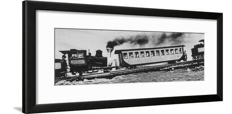 Mt. Washington Cog Railroad Built in 1869-Dmitri Kessel-Framed Art Print