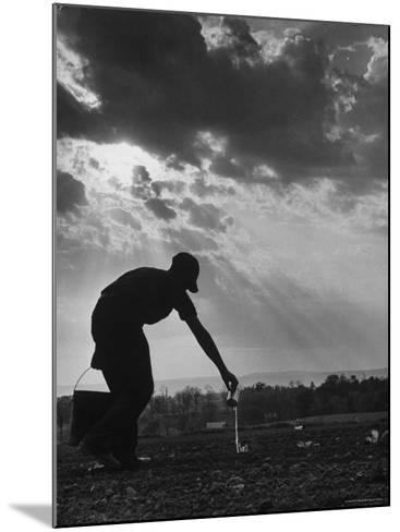 Farmer Watering the Crops-Ed Clark-Mounted Photographic Print