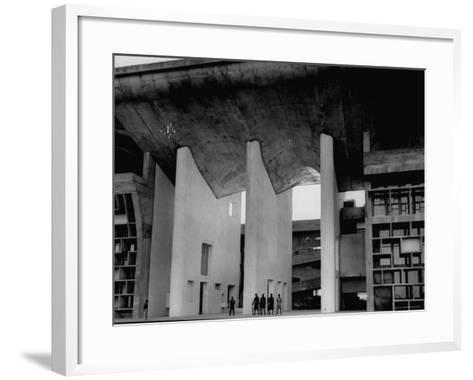 Entrance to Punjab High Court Building, Designed by Le Corbusier, in the New Capital City of Punjab-James Burke-Framed Art Print