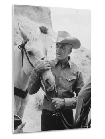 Senator Barry M. Goldwater, Riding His Horse is One of His Hobbies-Leonard Mccombe-Metal Print