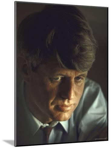 Pensive Portrait of Presidential Contender Bobby Kennedy During Campaign-Bill Eppridge-Mounted Photographic Print
