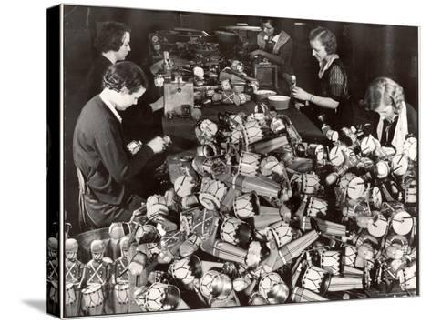 Women Working in Toy Factory-Margaret Bourke-White-Stretched Canvas Print