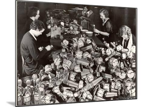 Women Working in Toy Factory-Margaret Bourke-White-Mounted Photographic Print