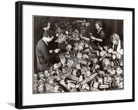Women Working in Toy Factory-Margaret Bourke-White-Framed Art Print