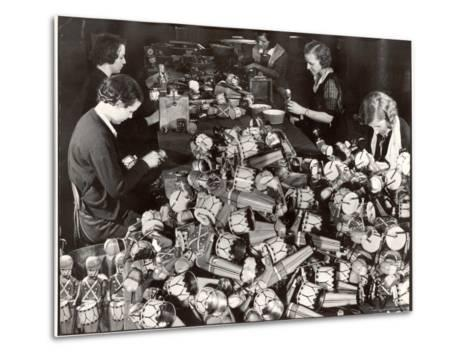 Women Working in Toy Factory-Margaret Bourke-White-Metal Print