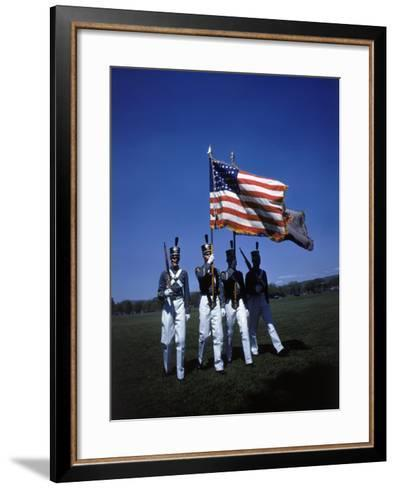 West Point Cadets Carrying US Flag-Dmitri Kessel-Framed Art Print
