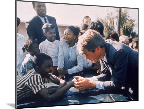 Robert F. Kennedy Meeting with Some African American Kids During Political Campaign-Bill Eppridge-Mounted Photographic Print