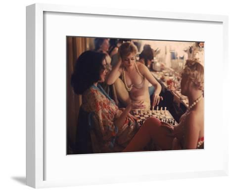Showgirls Playing Chess Between Shows at Latin Quarter Nightclub-Gordon Parks-Framed Art Print