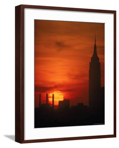 Sunset View with the Empire State Building-Alfred Eisenstaedt-Framed Art Print