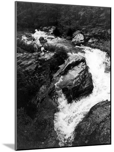 Upper Part of Linville Falls, in the Blue Ridge Mountains--Mounted Photographic Print