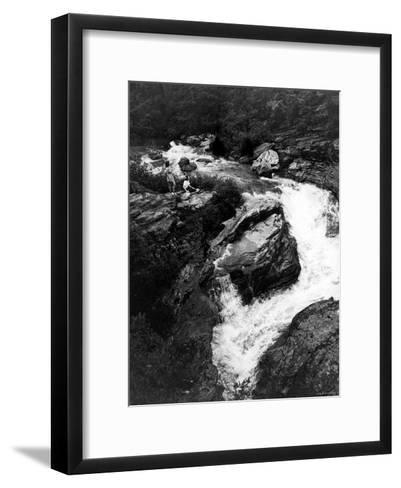 Upper Part of Linville Falls, in the Blue Ridge Mountains--Framed Art Print