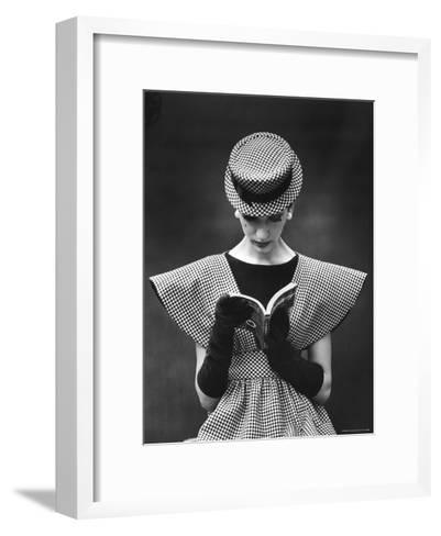 Woman Wearing Wide Shoulder Fashion Look-Nina Leen-Framed Art Print